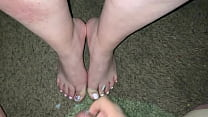 Cum on feet and toes compilation (Quick shots)