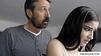 Teen daughter punish by stepdad
