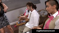 Cuban Queen Angelina Castro Is A Teacher who enjoys scolding naughty school girls & makes them masturbate other students in class! Full Video & Angelina Castro Live @ AngelinaCastroLive.com! Thumbnail