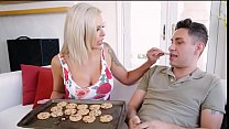 Watch Step mom gives reluctant son a blowjob preview