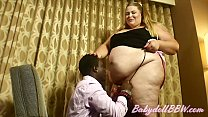 Watch Giantess Diva BabydollBBW Entertains a Client preview