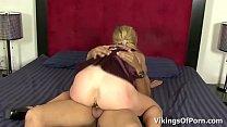 Hot Interracial Fucking with a Slutty Blonde MILF Peaches Thumbnail
