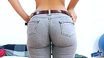 Big Ass Latina Teen In SuperTight Jeans Inserte...