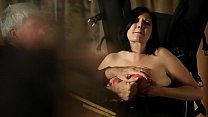 Big woman nipples twisted and caned Thumbnail