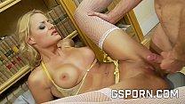 Hot secretary want a hard cock between her legs