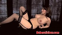 Babesalicious - Hot Solo Brunette In Black Ling...