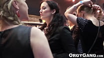Hot babes suck and fuck at wild party