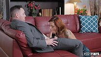 Scarlett is a lovely redhead who loves blowing cocks and getting fucked in her pink pussy! Luckily for her, she will have a hard cock to do while her bouncing tits will be a true pleasure!'s Thumb