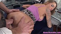 Juelz Ventura having her asshole filled with a large dick's Thumb