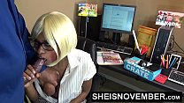 HD Submissive Black Nerd Assistant Msnovember O...