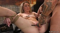 Gagged blonde slut Kate Kennedy with small tits...