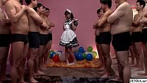 JAV huge gokkun event Airi Natsume naughty maid fellatio with glass Subtitles Thumbnail