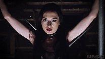 Teen bondage sex slave getting humiliated and e...