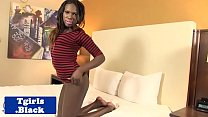 Watch Black amateur tgirl spreads ass while jerking preview