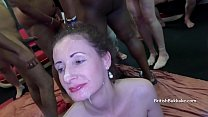 White mature and y. blacks facial cumshot party...