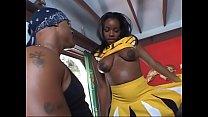 Ebony cheerleader  Mocha Delite demonstrating her sexy curves_while fucking Thumbnail