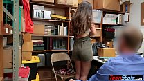 Small teen shoplifter fucked her way out of tro...