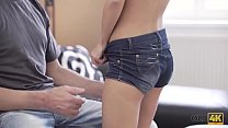OLD4K. Old and young couple spends all day havi...