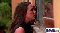 Abigail Mac nippled by Kenna James while Mia Malkova licks's Thumb