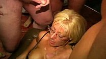 Watch UK Milf Jade Swallows Gets Cum on Her Glasses preview