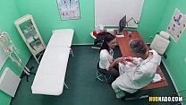 Big cocked doctor fucks her French patient Thumbnail