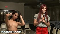 Watch HAZEHER - Sexy_Latin Teen_Interview And Audition With Lesbian Interaction preview