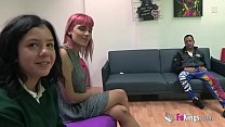 Two young teens need a huge dick to teach them ...