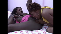 Dark skinned ebony slut loves to taste lesbian ...