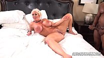 Blonde mom with huge tits gets fucked by six black men's Thumb