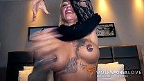 Hot-ass tattoo model FitxXxSandy BANGED by rand...