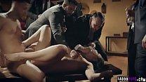 Rowdy businessman taunt humiliate escort during...