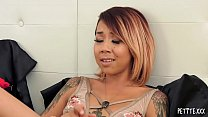 Kimberly Chi is a tattooed petite Asian who had...