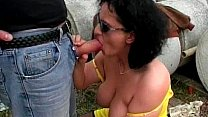 Great outdoor_group sex with horny milf Thumbnail