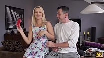 DADDY4K. Dude wakes up and catches blonde sucki...