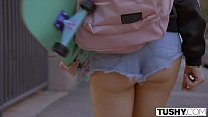 TUSHY Cute Teen Rides Hung Daddys with that butt