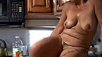 Trashy old spunker in sexy lingerie fucks her juicy pussy for you Thumbnail