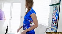 Watch Christie gave her step son a steaming hot deep throat blowjob! preview