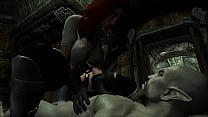 Elena Riding a Dark Elf in Skyrim 3D Animated Porn