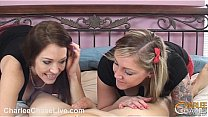 Busty Charlee Chase Hot Double BJ's Thumb