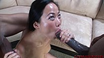 Hot asian wife cheats on husband with two big black cocks Thumbnail