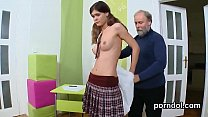Elegant college girl gets seduced and plowed by...
