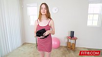 Watch Born In The Year 2000 Teen Newcomer Hazel Moore Fucked In Yoga Pants preview