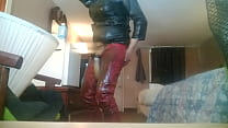 Watch Leather dressed farm owner never has washed his barn clothing preview