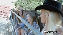 Foursome blowjob party with kinky cowgirls