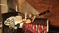 Submissive bsdm slut fucks her pussy with a fuc...