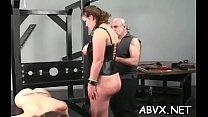 Extraordinary bondage for sexy babe Thumbnail