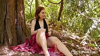 Lovely amateur redhead babe from Yanks Anja mas...