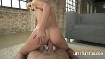 Slim and fully shaved brunette Lilu Moon does anal in POV Thumbnail