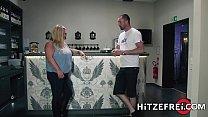 Fat German mature rides a sex toy then fucks a hard cock Thumbnail