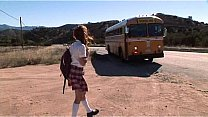 Watch Hot school babe banged_on school bus preview